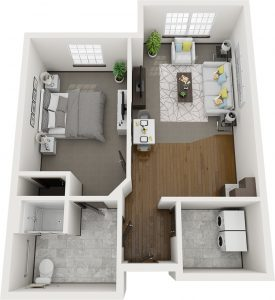 Pelican Landing Hickory assisted living layout plan