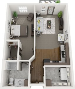 Pelican Landing Lilac Assisted Living layout plan